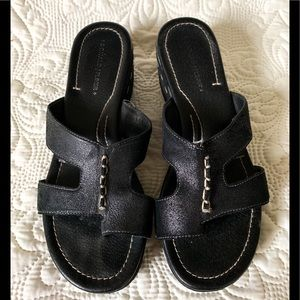 Donald J Pliner sandal Sela 7.5 black leather